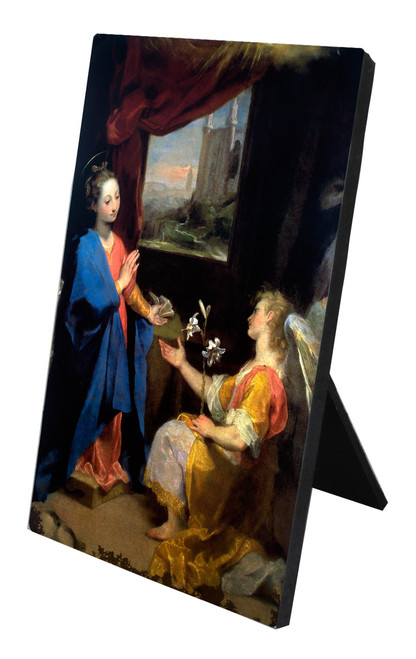Annunciation by Barocci Vertical Desk Plaque