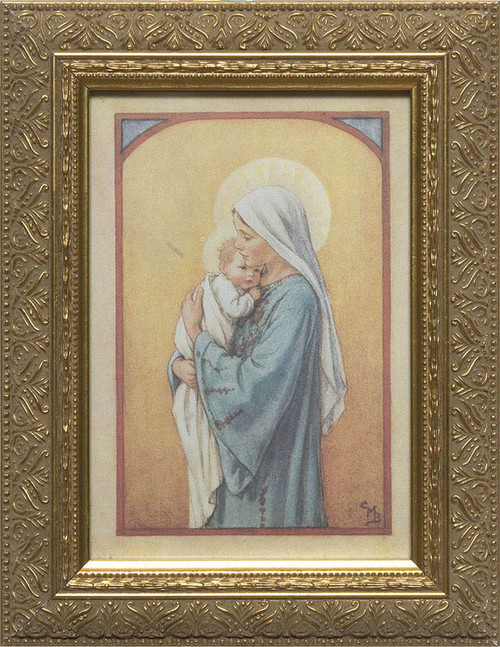Mary with Child by Cicely Mary Barker Framed Art