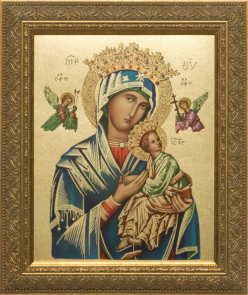 Our Lady of Perpetual Help (Gold) Framed Art