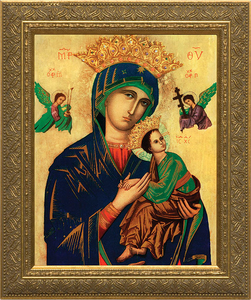 Mother of Perpetual Help - Gold Framed Art