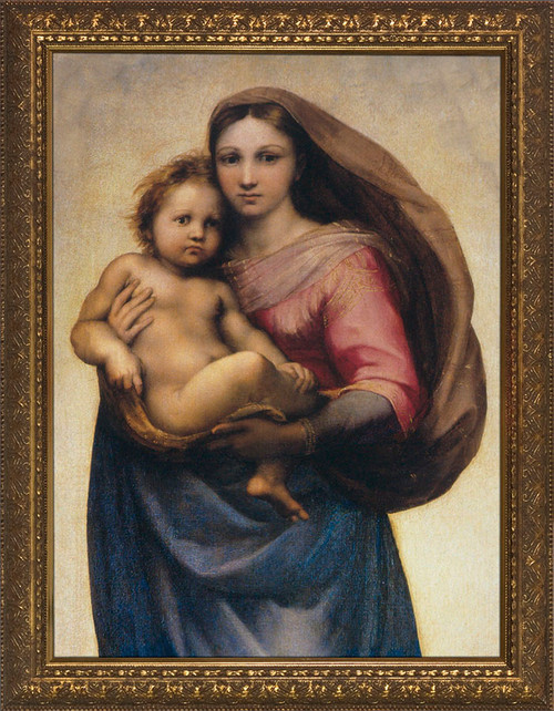 Sistine Madonna by Raphael Detail Framed Art