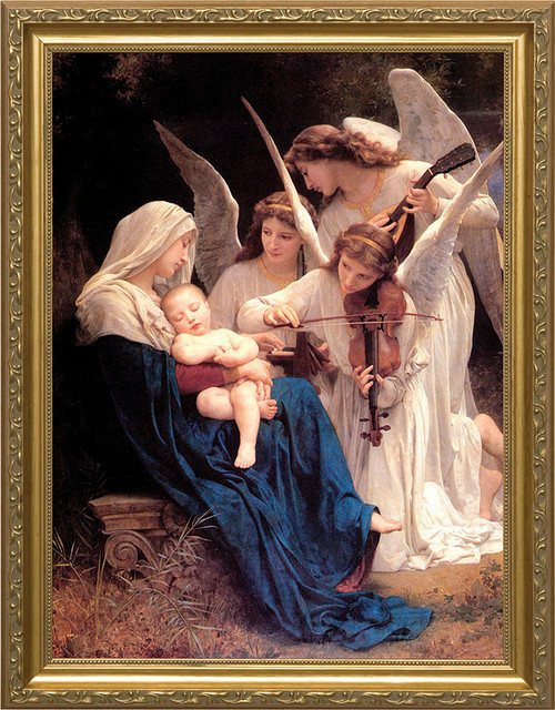 Song of the Angels - Standard Gold Framed Art
