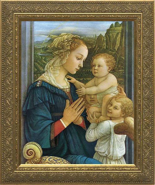 Virgin with Child by Lippi Framed Art