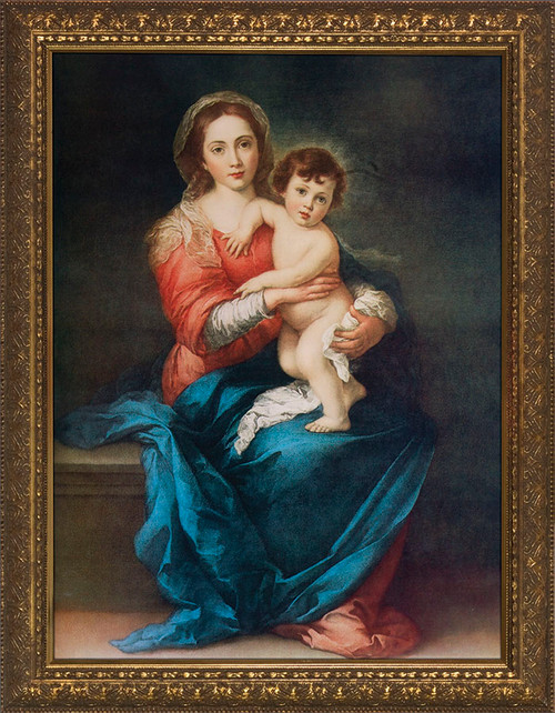 Virgin with Child by Murillo Framed Art