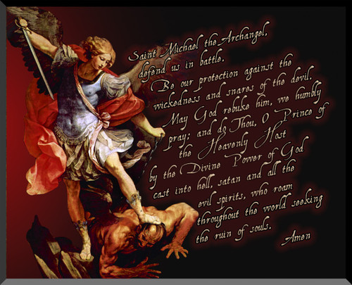 St. Michael the Archangel Graphic Wall Plaque