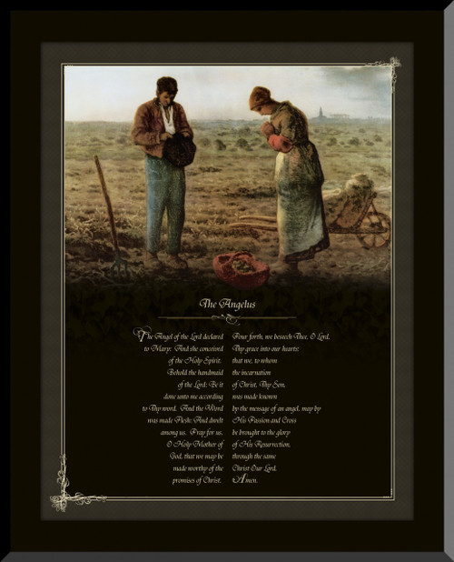 The Angelus by Millet Graphic Wall Plaque