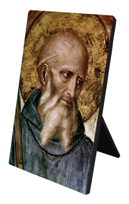 St. Benedict Vertical Desk Plaque