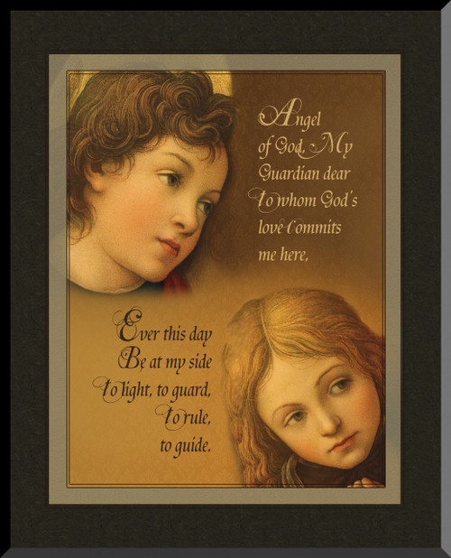 Guardian Angels Graphic Wall Plaque