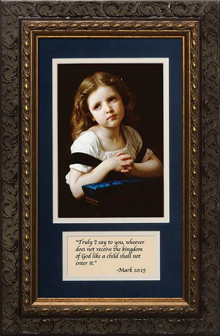 La Priere with Prayer Framed
