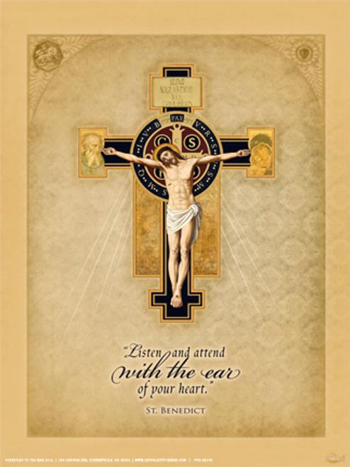 Benedictine Cross Poster