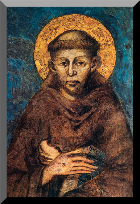 St. Francis by Cimabue Wall Plaque