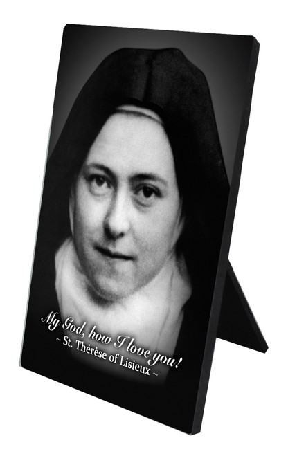 St. Therese (Nun) Vertical Desk Plaque