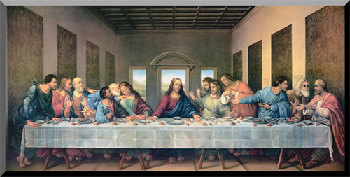 Last Supper by Da Vinci Restored Wall Plaque