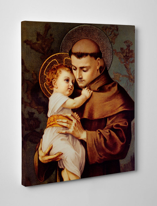 St. Anthony with Jesus Gallery Wrapped Canvas