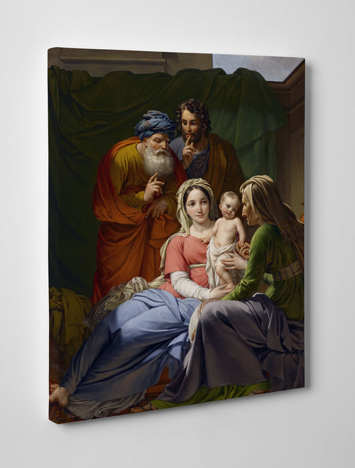 Holy Family with Grandparents Joachim and Anne Gallery Wrapped Canvas