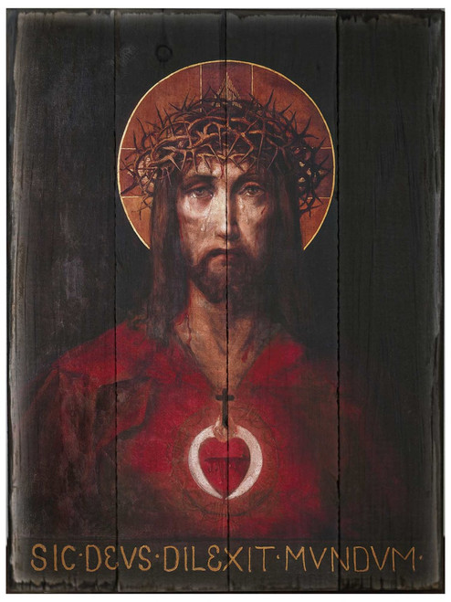 For God So Loved the World Rustic Wood Plaque