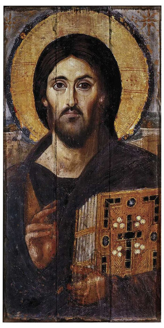 Christ Pantocrator Icon Rustic Wood Icon Plaque