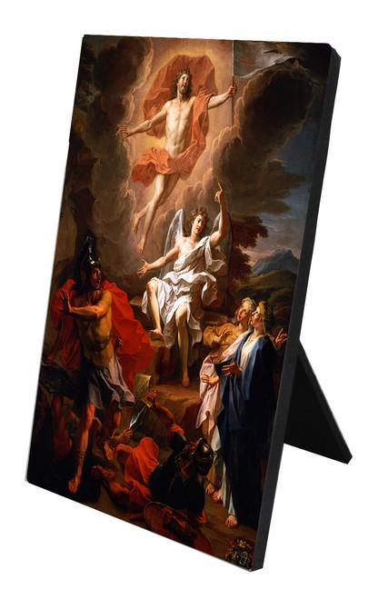 Resurrection of Christ by Coypel Vertical Desk Plaque