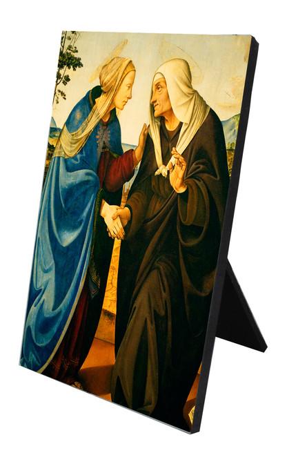 Visitation of Mary and Elizabeth Vertical Desk Plaque