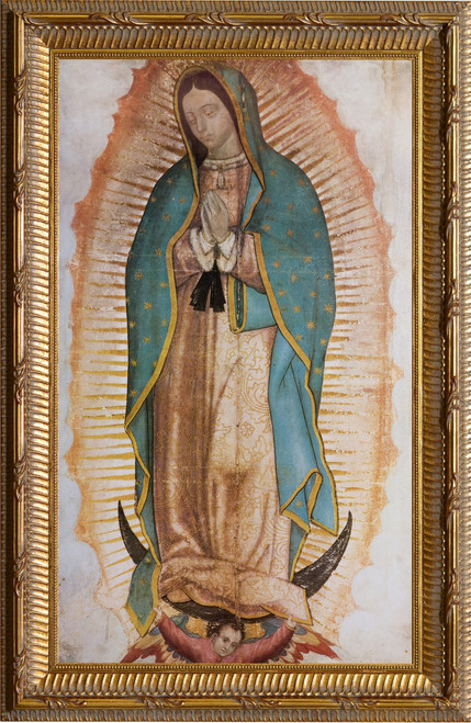 Our Lady of Guadalupe (Traditional) Gold Framed Art