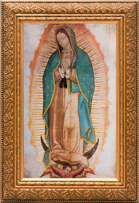 Our Lady of Guadalupe (Traditional) - Gold Framed Canvas