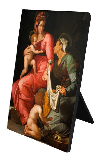 St. Elizabeth with Madonna and Child Vertical Desk Plaque