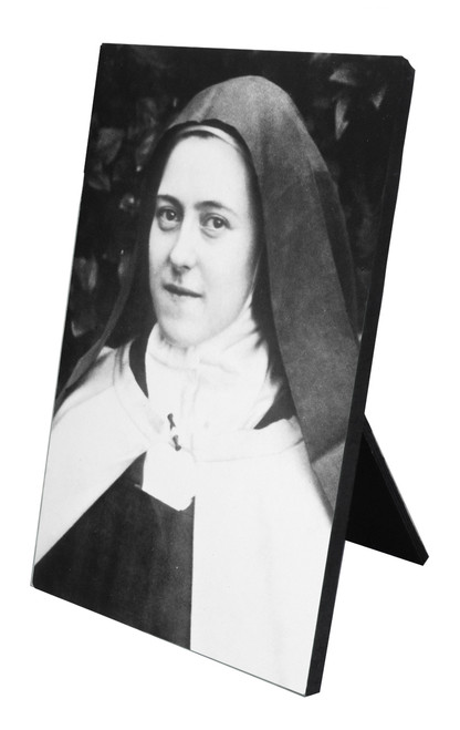 St. Therese (Portrait) Vertical Desk Plaque