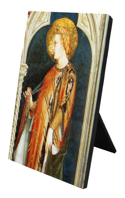 St. Elizabeth Detail Vertical Desk Plaque