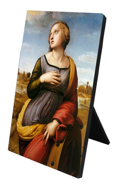 St. Catherine of Alexandria Vertical Desk Plaque