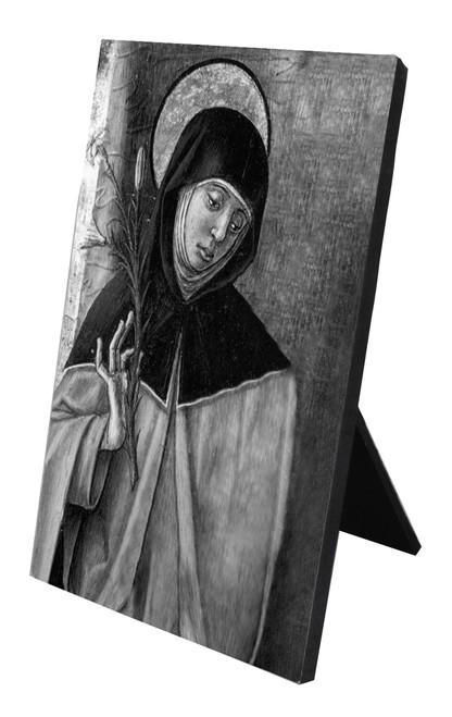St. Catherine of Siena Vertical Desk Plaque
