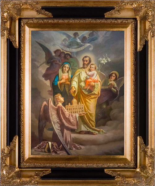 Joseph, Patron of the Church - Black & Gold Museum Framed Canvas