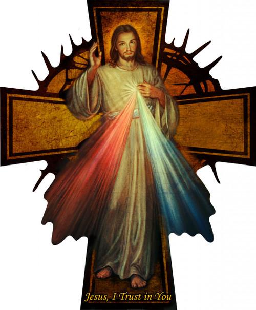 Divine Mercy Oversized Wall Plaque Cross