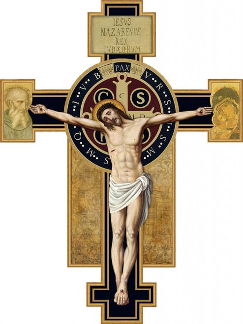 Benedictine Cross Large Wall Plaque Crucifix