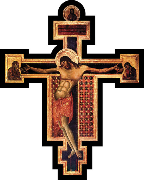 Byzantine Large Wall Plaque Crucifix