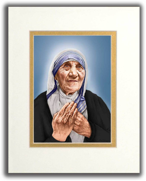 St. Teresa of Calcutta Canonization Matted Print