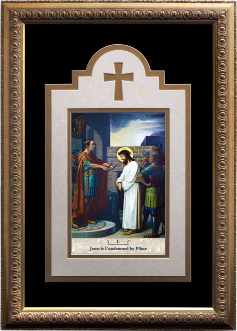 Emmerich Stations of the Cross Deluxe Matted and Framed (Set of 14)