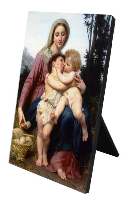 Sainte Famille Vertical Desk Plaque