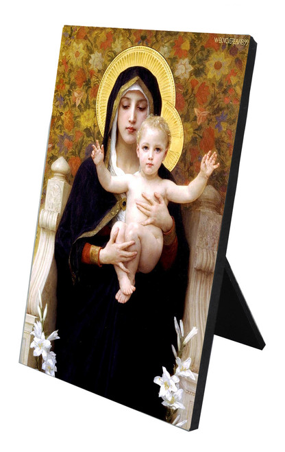 La Vierge au Lys Vertical Desk Plaque