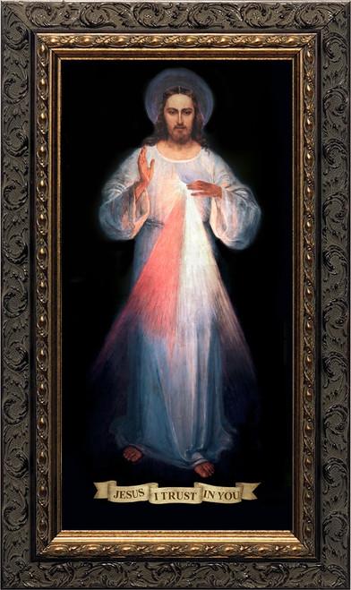 Divine Mercy Vilnius Original - Ornate Dark Framed Art