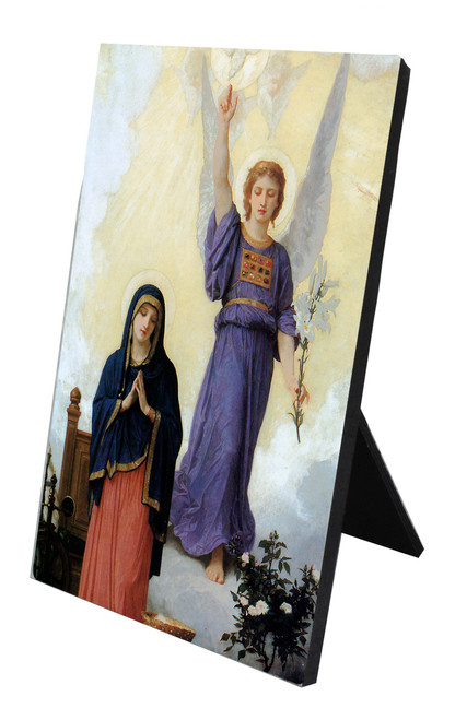 L'Annunciation Vertical Desk Plaque