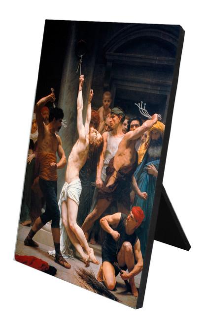 The Flagellation of Christ Vertical Desk Plaque
