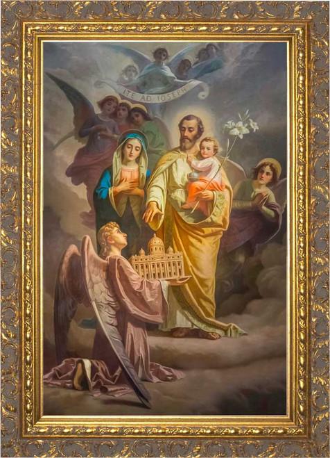 Joseph, Patron of the Church - Ornate Gold Framed Canvas