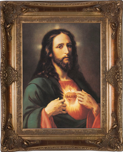 Sacred Heart of Jesus - Museum Framed Canvas
