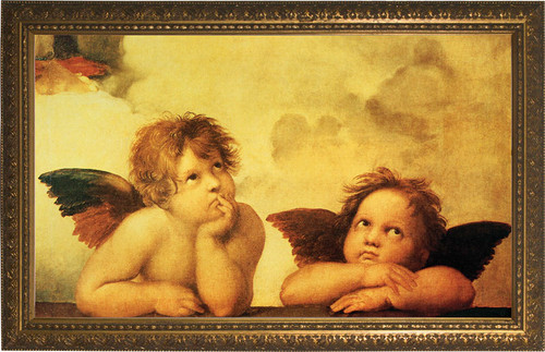 Sistine Madonna Angels Framed Art