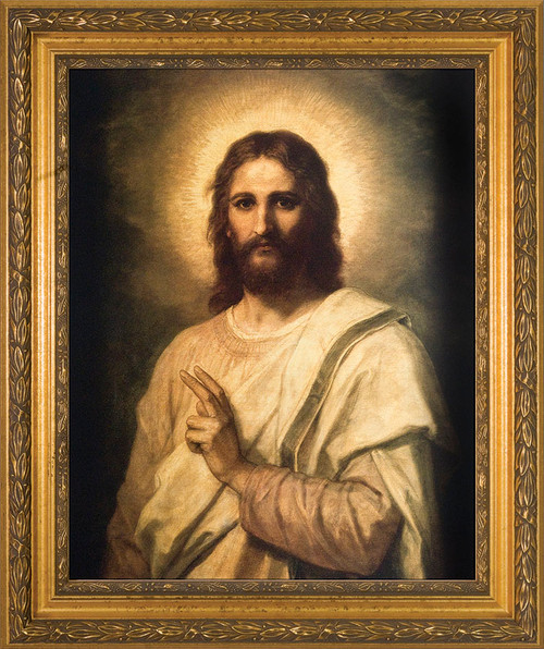 Figure of Christ Framed Art