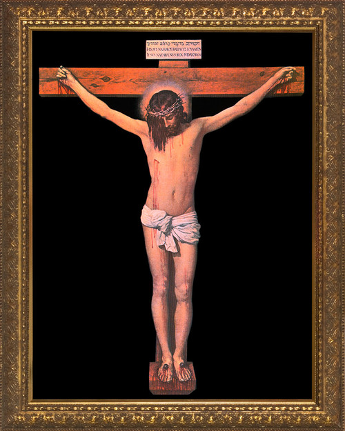 Crucifixion by Velazquez - Gold Framed Art