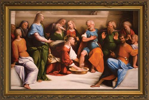 Christ Washing the Feet of His Apostles Framed Art