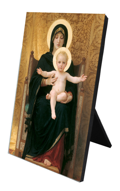 Virgin and Child Vertical Desk Plaque