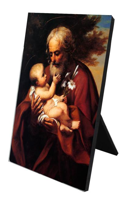 St. Joseph (Older) Vertical Desk Plaque