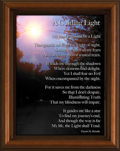 Guiding Light Poem Framed